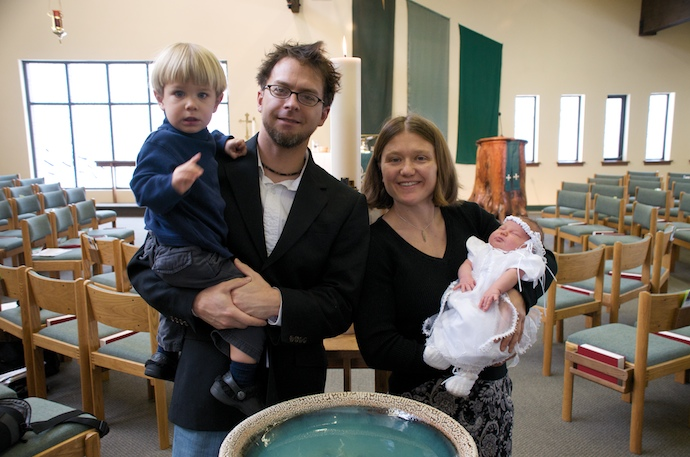 Tegan gets baptized