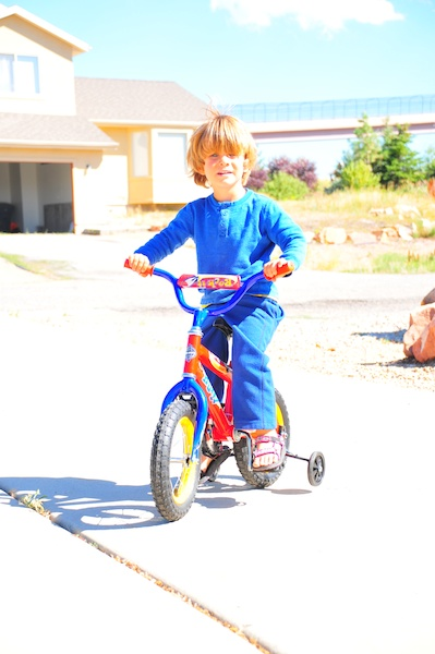 Tory's first bike