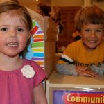 Soph and Tory together at preschool (via Sam)
