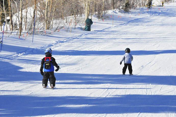 Saturday skiing with Evan