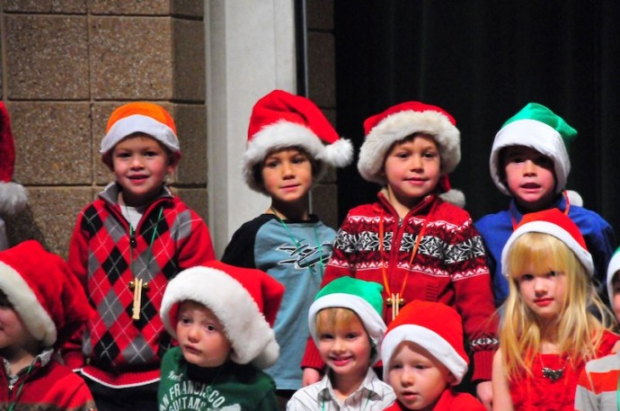Kindergarten Christmas program.